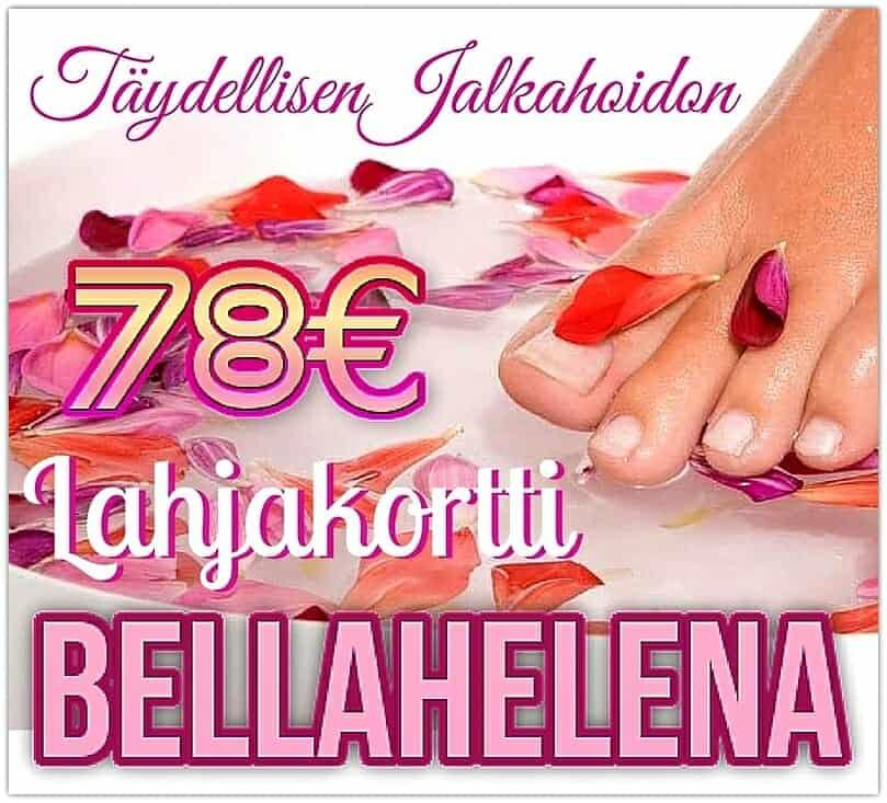 Täydellinen Jalkahoito 78 lahjakortti Kauneushoitola BellaHelena Oulu