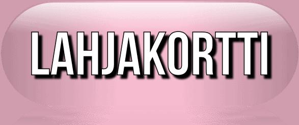 Lahjakortti button pink Kauneushoitola BellaHelena Oulu Helena & Paris Oy Helena ja Markku Tauriainen 2017 Suomi Finland